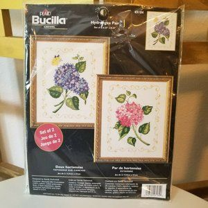 Bucilla Hydrangea Pair Floral Crewel Kit Craft